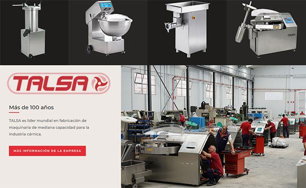 Talsa ist ein weltweit führender Hersteller von Qualitätsmaschinen mittlerer Kapazität für die Fleischindustrie.